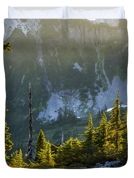 Duvet Cover featuring the photograph Rare Sunset by Albert Seger