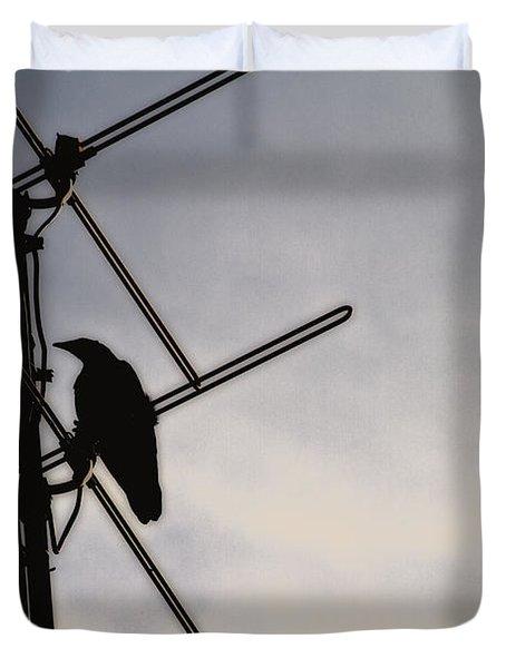 Ravens Perch Duvet Cover by Karol Livote