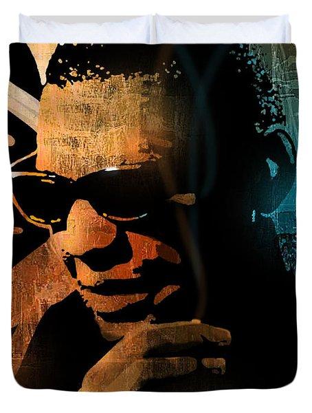 Ray Charles Duvet Cover by Paul Sachtleben