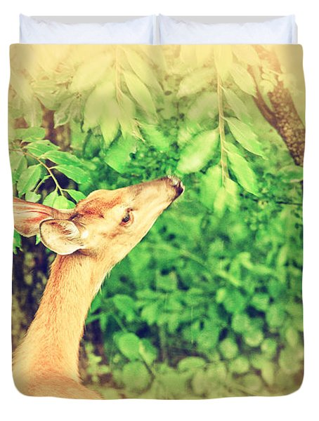 Reaching Duvet Cover by Karol Livote