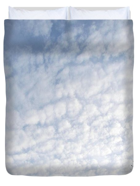 Duvet Cover featuring the photograph Reaching The Clouds by Pamela Hyde Wilson