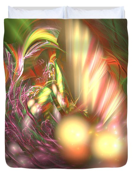 Ready To Pick Up - Abstract Art Duvet Cover