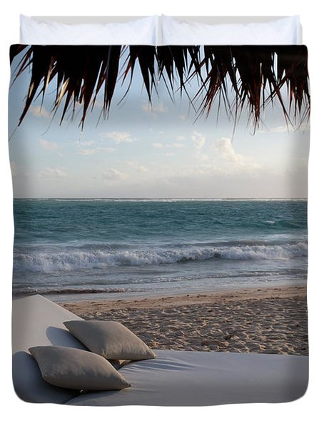 Duvet Cover featuring the photograph Ready To Relax On A Tropical Beach by Karen Lee Ensley