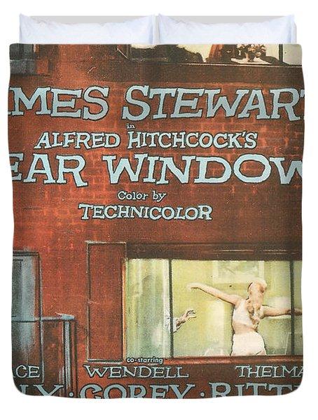 Rear Window Duvet Cover by Georgia Fowler
