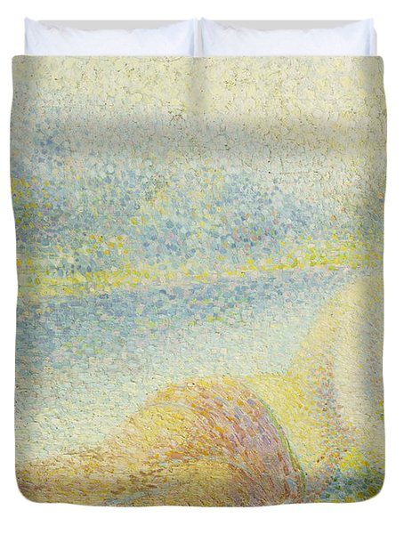 Reclining Nude Duvet Cover by Hippolyte Petitjean