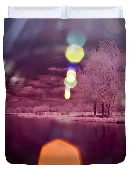 Recurring Light Duvet Cover