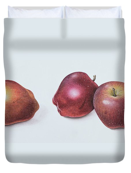 Red Apples Duvet Cover