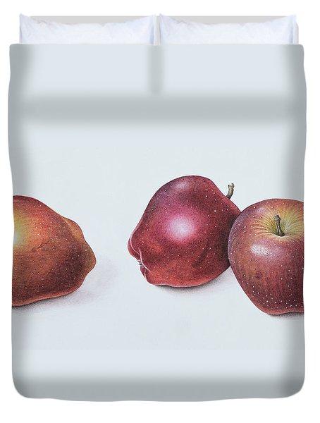 Red Apples Duvet Cover by Margaret Ann Eden