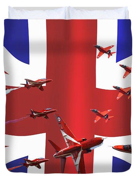 Red Arrows Union Jack Duvet Cover by Ken Brannen