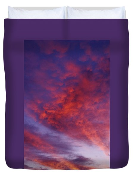 Red Clouds Duvet Cover by Garry Gay