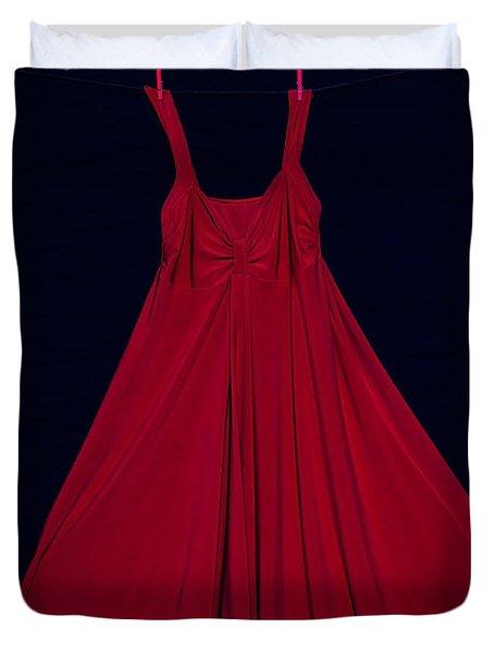 Red Dress Duvet Cover by Joana Kruse