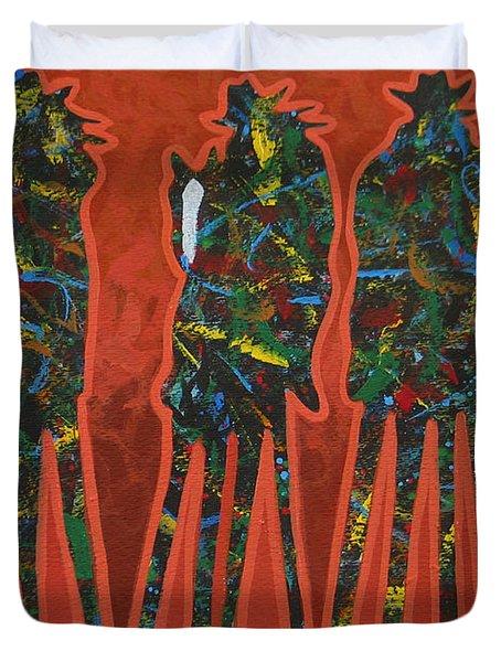 Red Dust Duvet Cover by Lance Headlee