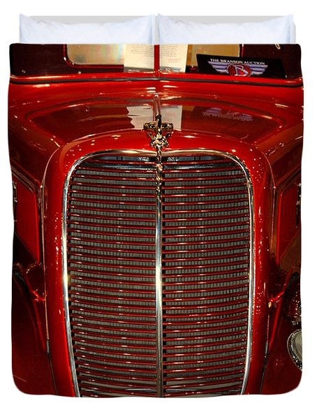 Red Ford Duvet Cover by Susanne Van Hulst