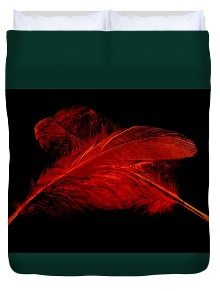 Red Ghost On Black Duvet Cover