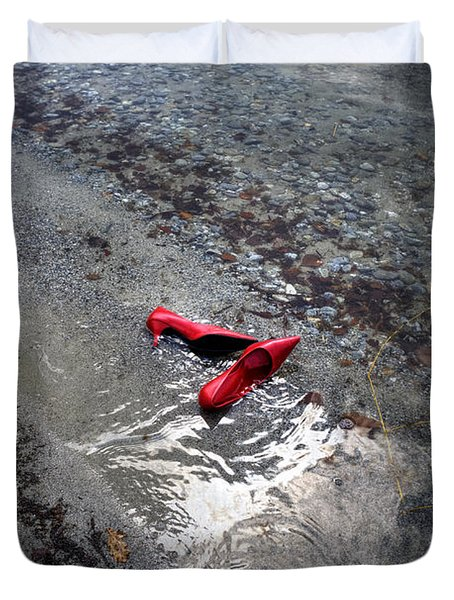 Red Is Swimming Duvet Cover by Joana Kruse