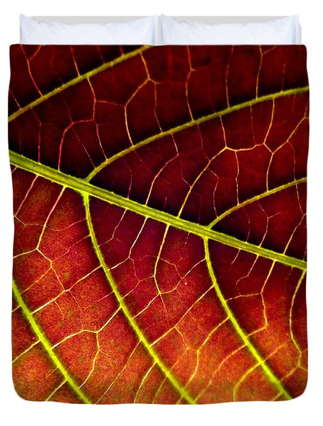 Red Leaf Duvet Cover