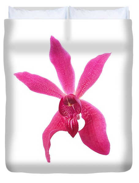 Red Orchid Head Duvet Cover by Atiketta Sangasaeng
