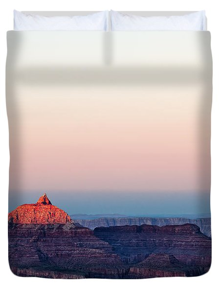 Red Peak Duvet Cover by Dave Bowman