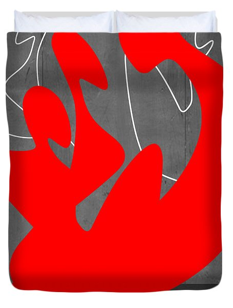 Red People Duvet Cover