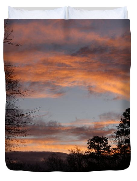 Red Sky At Dawn Duvet Cover