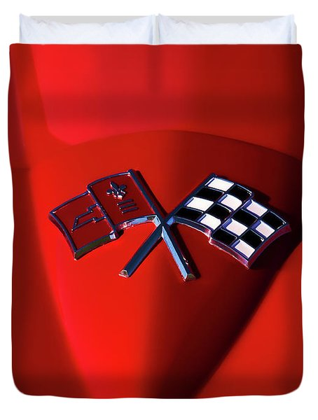 Red Stingray Badge Duvet Cover