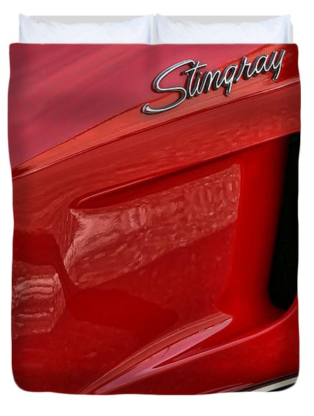 Red Stingray Duvet Cover
