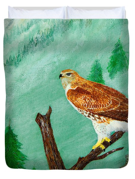 Red Tail Hawk Duvet Cover