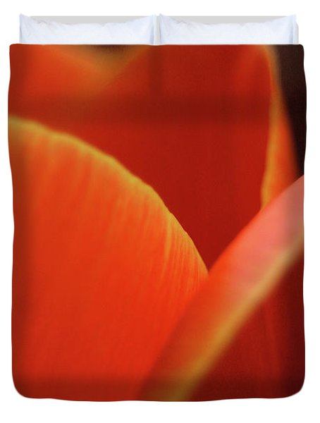 Duvet Cover featuring the photograph Red Tulip by Jeannette Hunt