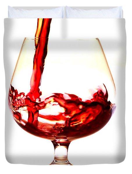 Red Wine Duvet Cover by Michal Boubin