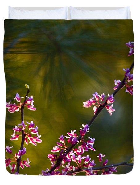 Redbud Duvet Cover by Rob Travis