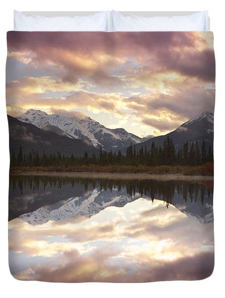 Reflecting Mountains Duvet Cover