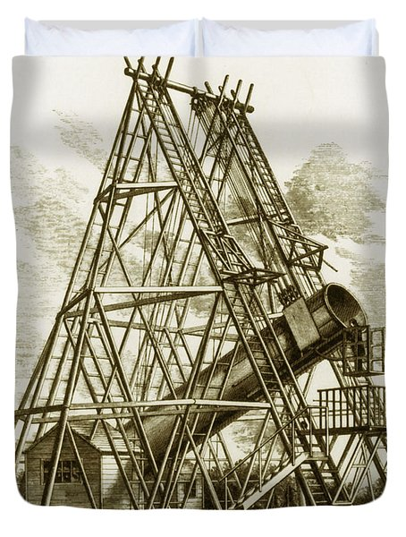 Reflecting Telescope, 1789 Duvet Cover by Science Source