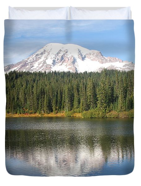 Reflection Lake - Mt. Rainier Duvet Cover
