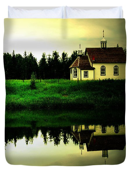 Reflection Of Faith  Duvet Cover by Empty Wall