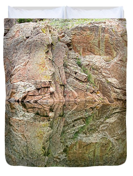 Reflections In The Colorado Rocky Mountains  Duvet Cover