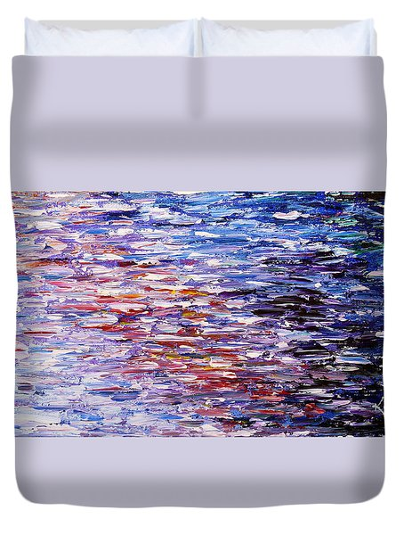 Duvet Cover featuring the painting Reflections by Kume Bryant