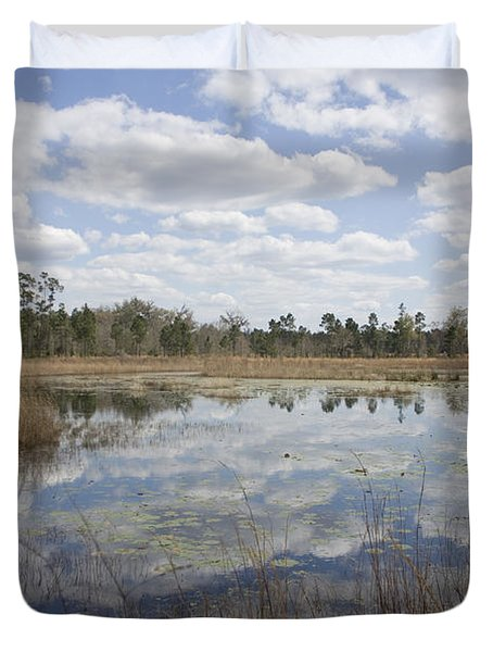 Duvet Cover featuring the photograph Reflections by Lynn Palmer