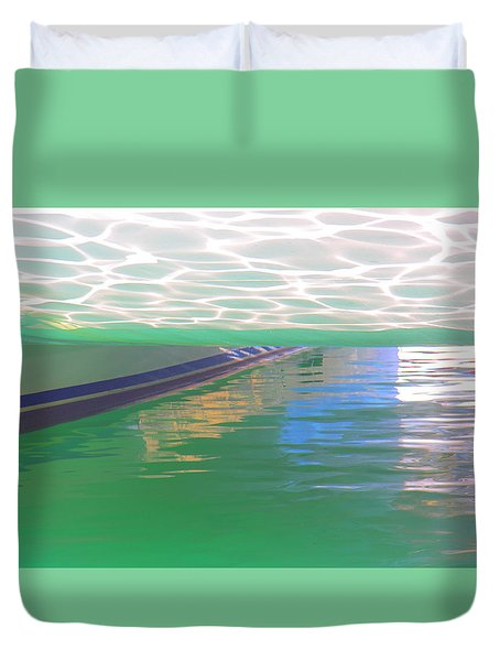 Duvet Cover featuring the photograph Reflections by Nareeta Martin