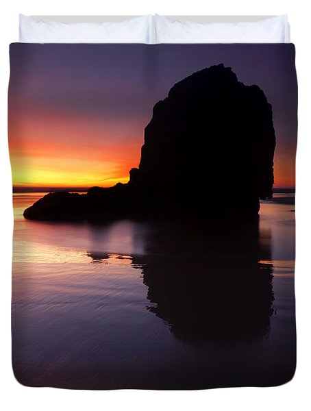 Reflections Of The Tides Duvet Cover by Mike  Dawson