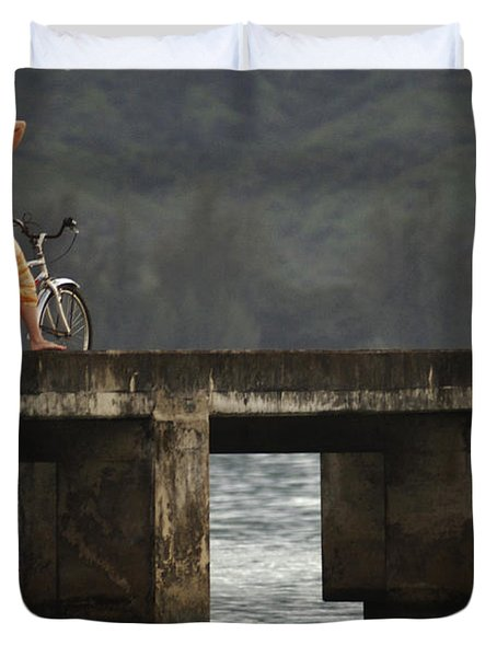 Relaxed Ride Hanalei Bay Duvet Cover by Bob Christopher