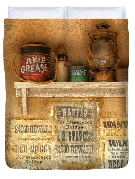 Relics Of The Old West Duvet Cover by Sandra Bronstein