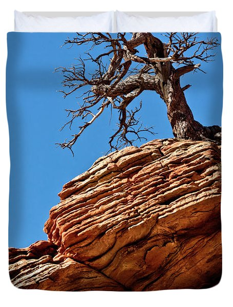 Remnants Of A Struggle Duvet Cover by Christopher Holmes