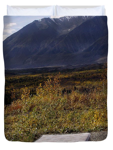 Duvet Cover featuring the photograph Rest And Enjoy The Great Outdoors by Karen Lee Ensley