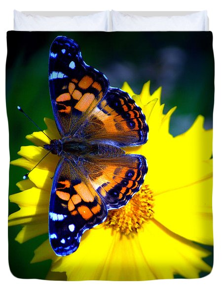 Resting Butterfly Duvet Cover by Kevin Fortier