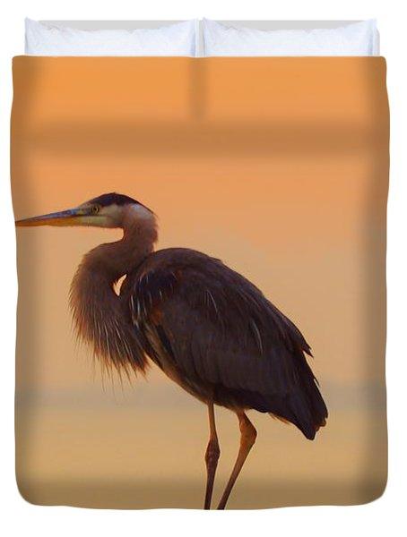Resting Heron Duvet Cover