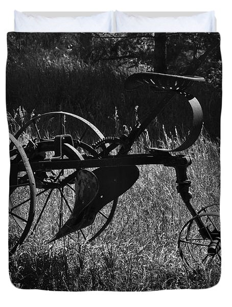 Duvet Cover featuring the photograph Retired Farmer by Ron Cline