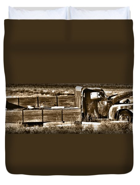 Retired Truck Duvet Cover