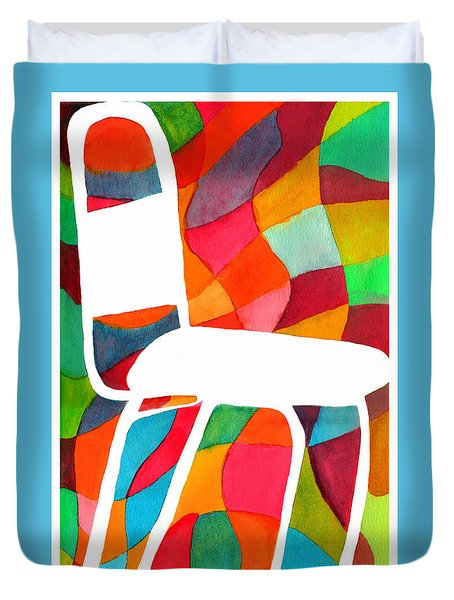 Retro Dinette Chair Duvet Cover by Paula Ayers
