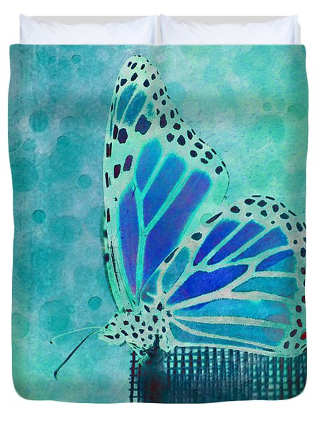 Reve De Papillon - S02a2 Duvet Cover by Variance Collections