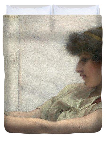 Reverie Duvet Cover by John William Godward